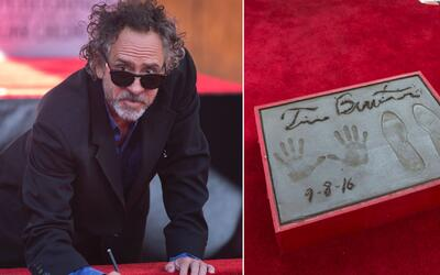 Tim Burton plasmó sus huellas en el legendario Teatro Chino de Hollywood