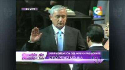 Otto Pérez Molina asumió la presidencia de Guatemala