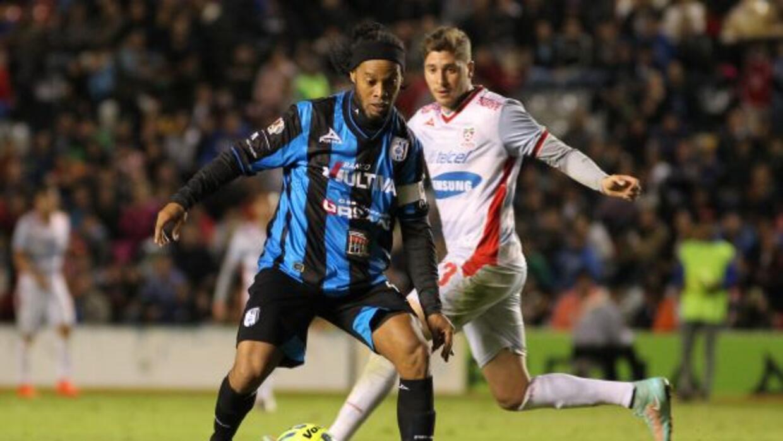 Ronaldinho jugó los 90 minutos del encuentro ante Mineros.