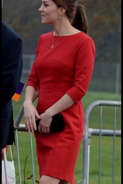 La sonrisa de Kate era muy notoria y la emoción de poder estar ah...