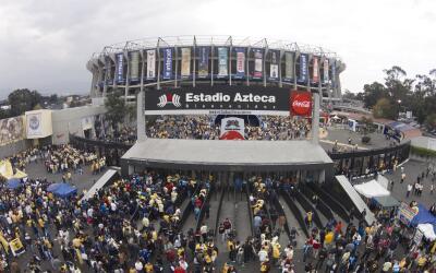 El legendario Estadio Azteca.