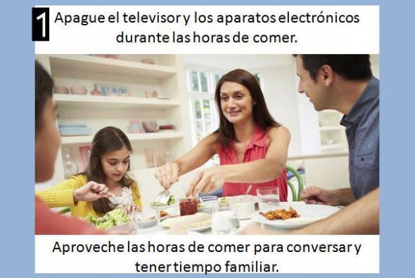 Haga las horas de comida un tiempo de familia.