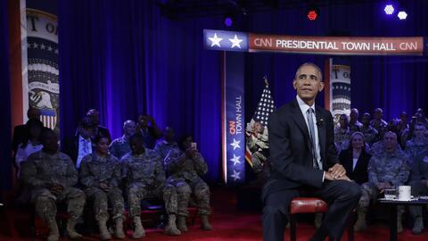 El presidente Barack Obama asiste a una Asamblea Ciudadana organizada po...