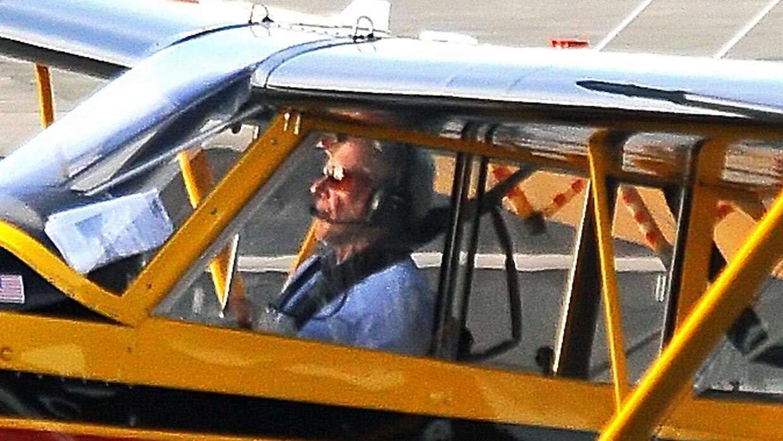 Imágenes tomadas el 13 de febrero, muestran a Harrison Ford pilot...