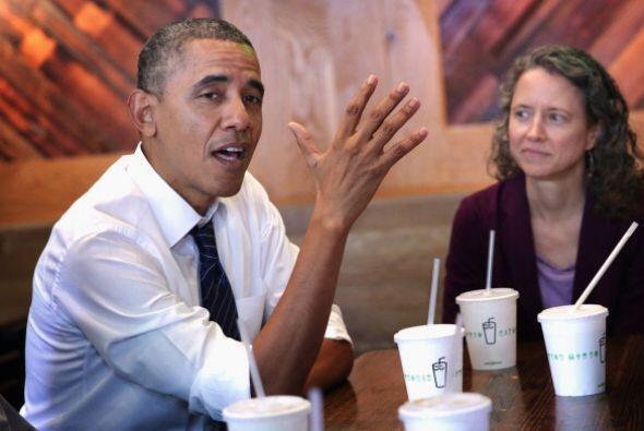 Obama y Biden comieron en el restaurante de hamburguesas Shake Shack, ub...