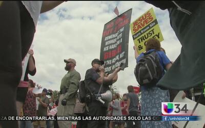 Manifestaciones y violencia por visita de Trump a Santa Mónica