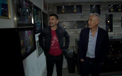 ¿Cómo luce el estudio de grabación de Juanes? Jorge Ramos nos lleva hast...