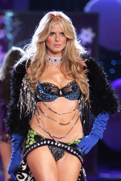 Heidi Klum modeló durante 13 años para la firma de lencería Victoria's S...