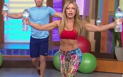Claudia Molina hizo una rutina de ejercicios para principiantes
