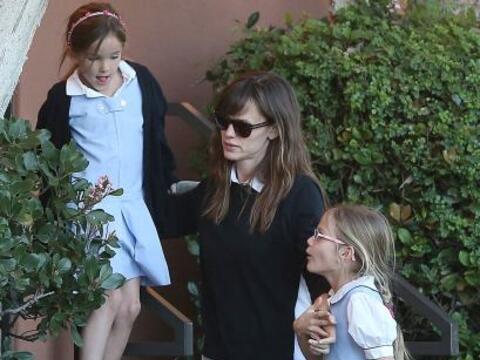 Era un día tranquilo para Jen Garner y sus hijas.