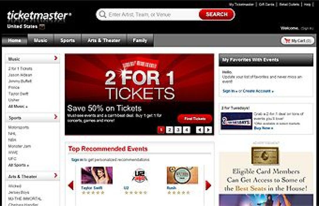 TICKETMASTER   La empresa de venta de boletos Ticketmaster basada en Bev...