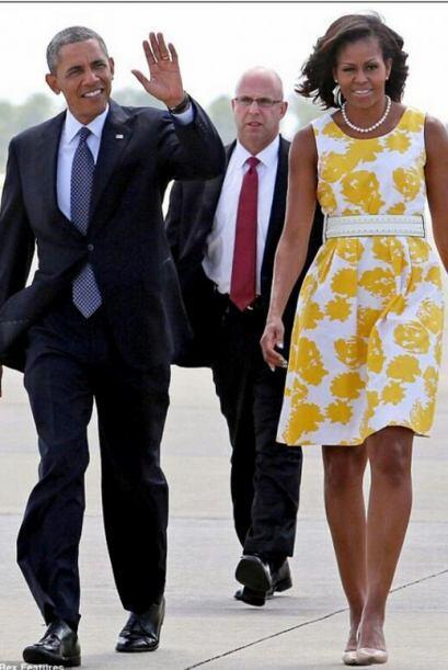 El hermoso tono de piel que posee Michelle Obama le ayuda muchísi...