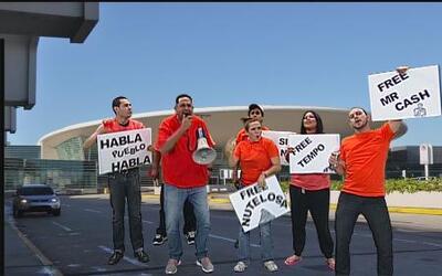 Los huelguistas defienden al equipo nacional de baloncesto