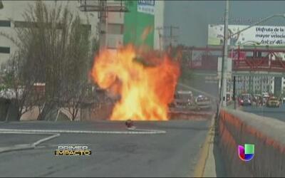 Potente estallido de gas abrió la tierra en México