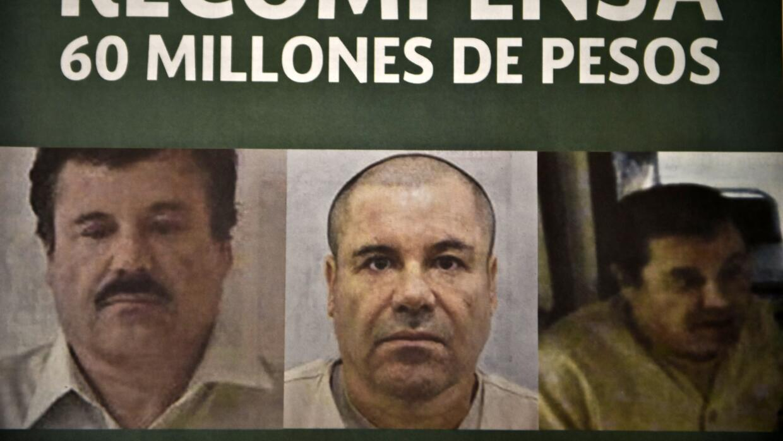 """Cártel de búsqueda de Joaquín """"El Chapo""""..."""