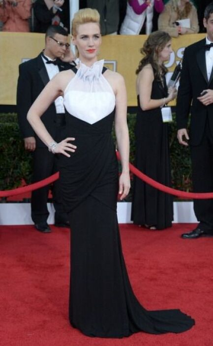 Buajjjj, este vestido de January Jones era tan perfecto que parecía cupc...