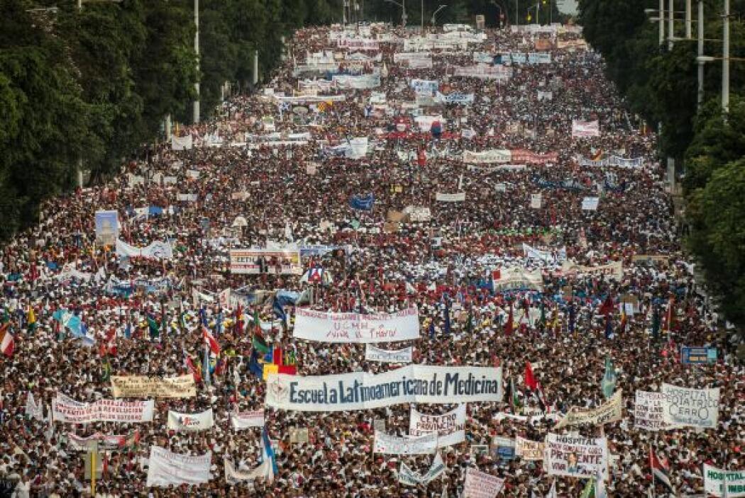 La estimación oficial considera que participaron más de medio millón de...