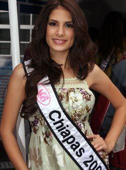 Mildreth Jiménez León de 19 años es la segunda representante de Chiapas.