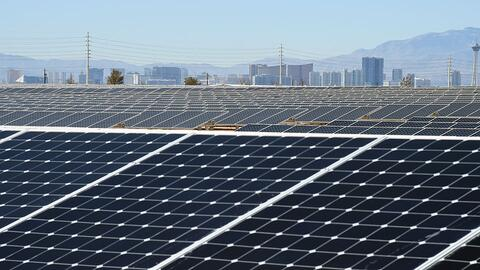 The 102-acre, 15-megawatt Solar Array II Generating Station at Nellis Ai...