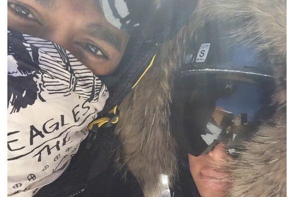 Kim y Kanye estaban disfrutando de unas heladas vacaciones en Utah.