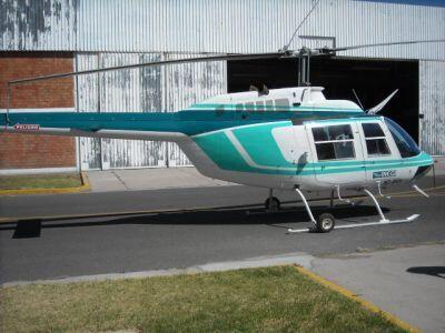 Se pondrán a la venta este helicóptero turbo helice bell 206.  (Foto: Co...