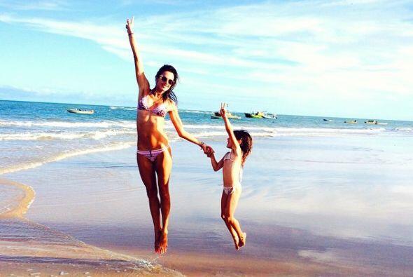 Pero también aprovechó para disfrutar de las playas con su...