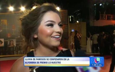 A Sofía Castro se le rompió el vestido antes de Premio lo Nuestro