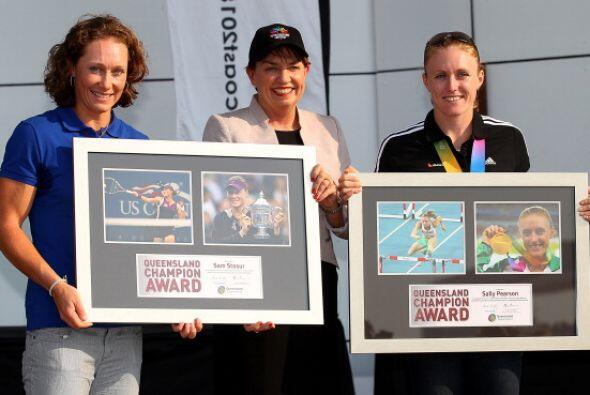 Las dos atletas se han convertido en figuras tras sus logros deportivos.