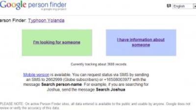 Por medio de Google person finder, solo basta con ingresar al link 'Esto...