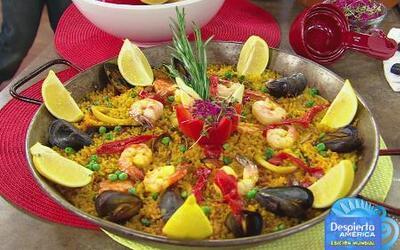 Receta de paella valenciana para ver el partido de España