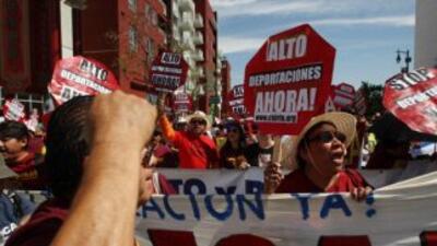 Activistas presionan a favor de la reforma migratoria.