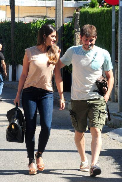 El arquero español Iker Casillas celebró sus 33 años en compañía de su b...