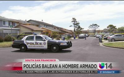 Policía disparó mortalmente contra hombre armado en South San Francisco