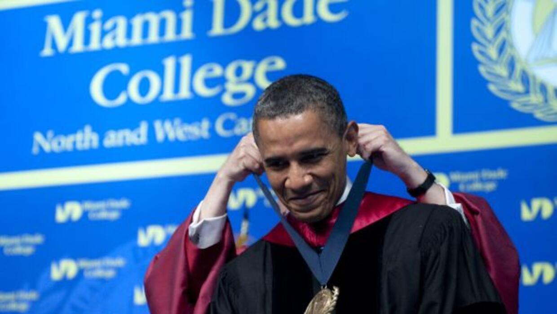 El presidente de Estados Unidos, Barack Obama, visitó el sur de Florida...