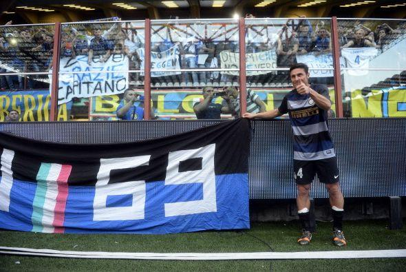 Javier Zanetti llegó al Inter en 1995. Disputó con este eq...