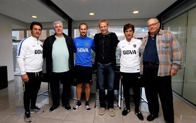 Barros Schelotto, Jurgen Klinsmann, Sigi Schmid Boca Juniors
