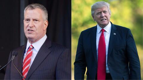 El alcalde de Nueva York, Bill de Blasio, dice por qué no confía en Dona...