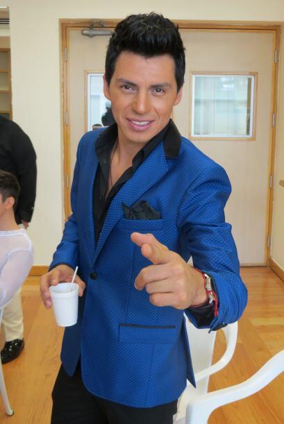 Mario Pacheco en el último ensayo para la cuarta gala.