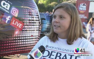 Estudiantes neoyorquinos están al pendiente del debate presidencial