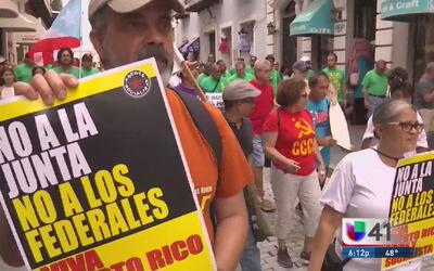 Puerto Rico marcha contra la Junta de Control Fiscal