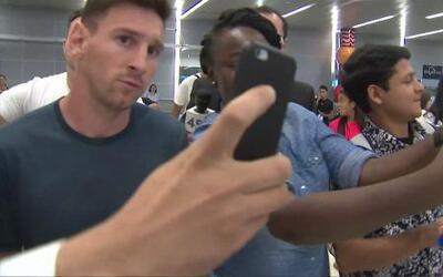 ¡Lionel Messi y su selección en Houston!