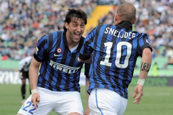 La vuelta del mejor nivel de Sneijder fue la gran noticia para el Inter,...