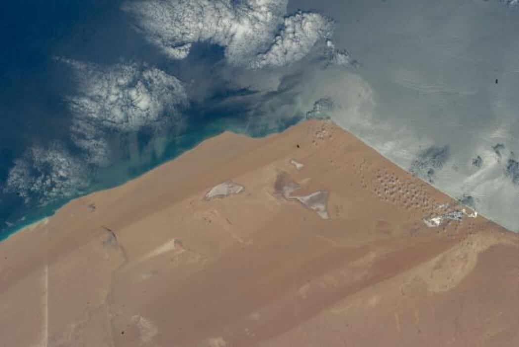 El comandante Steve Swanson publicó esta fotografía, tomada desde la Est...