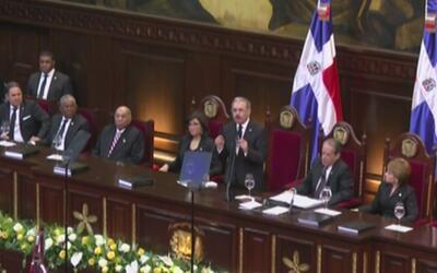 En República Dominicana, el presidente Danilo Medina ofreció su discurso...