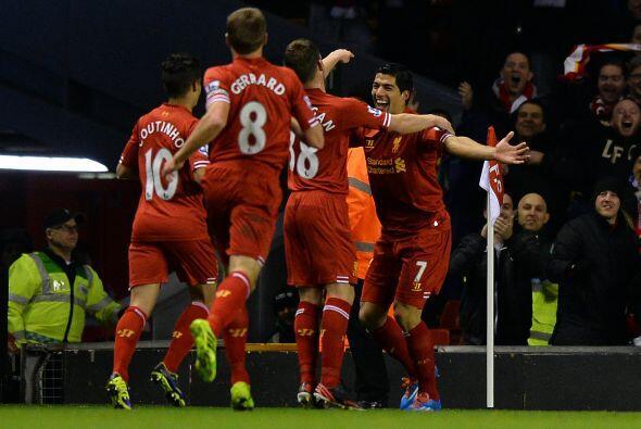 Luis Suárez empezaba a sumar goles desde los primeros 15 minutos del par...