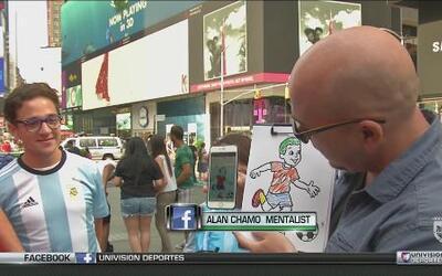 El mentalista de República Deportiva sorprendió en Times Square