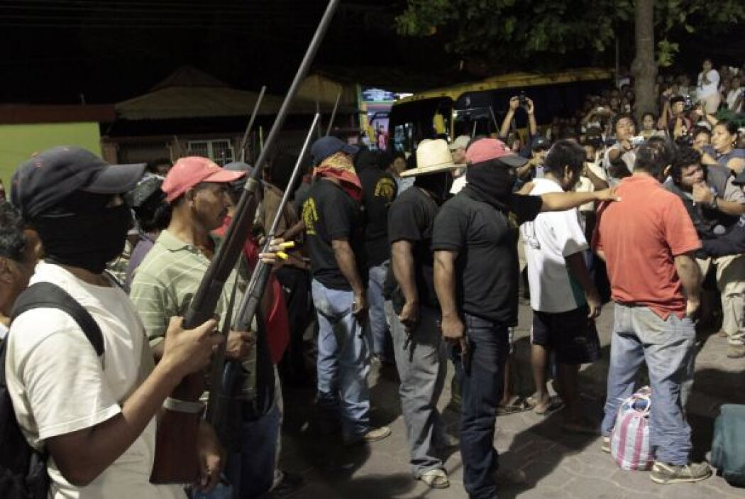 De acuerdo con El Universal, los manifestantes de Oaxaca externaron su h...