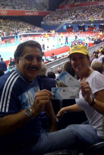 Tarde de Voleibol, Argentina vs. Brasil. Acá no me fue bien, Brasil ganó...