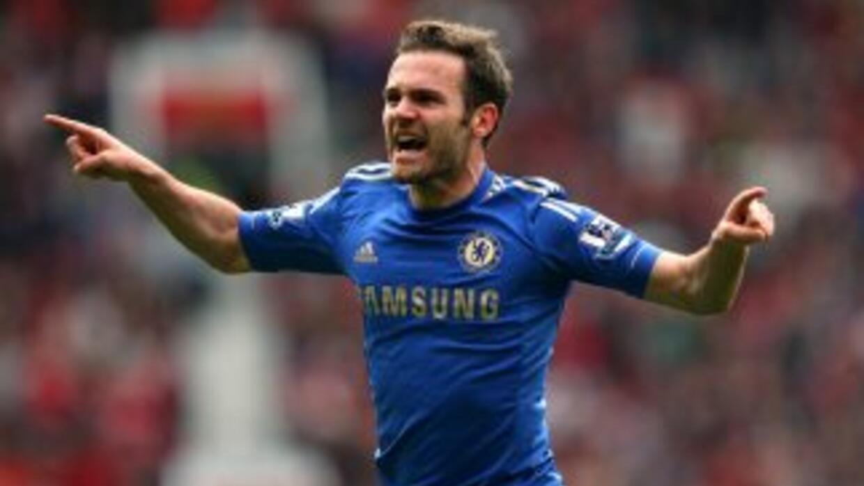El español Mata le dio la victoria a los 'Blues' sobre los 'Red Devils'...