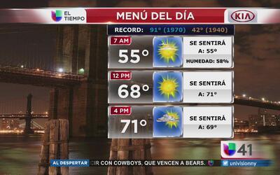 Nueva York tendrá un lunes mayormente despejado